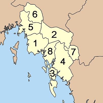 Okresy thajské provincie Krabi