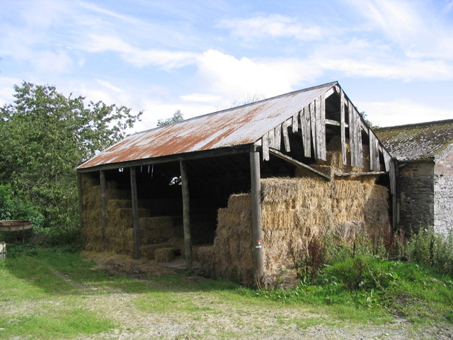 File:An old hay shed at Clerklands Farm - geograph.org.uk ...