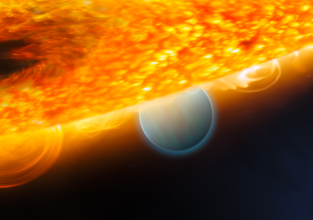 File:Artist's View of Exoplanet Orbiting the Star HD ...
