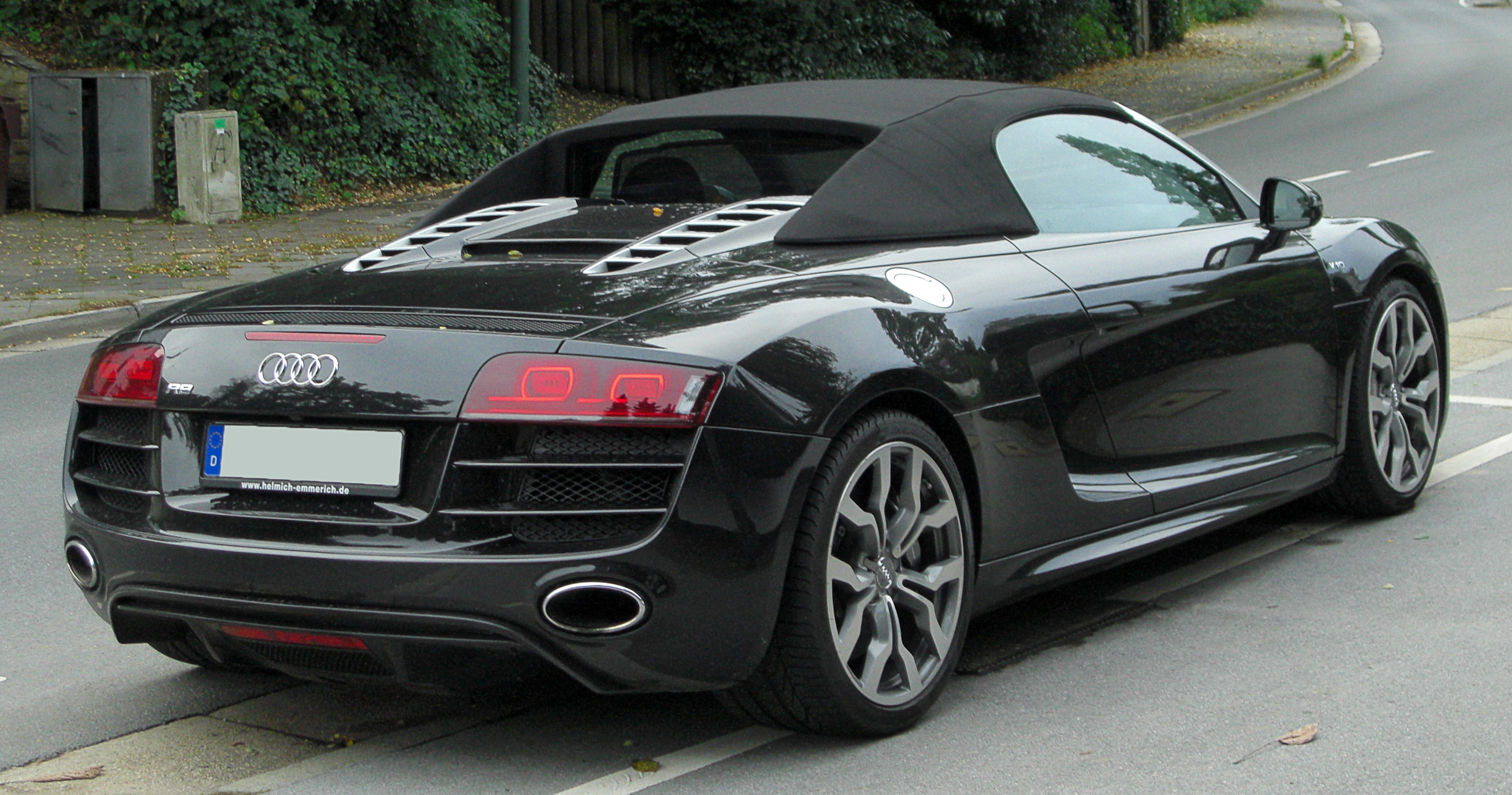file audi r8 spyder v10 rear wikimedia commons. Black Bedroom Furniture Sets. Home Design Ideas