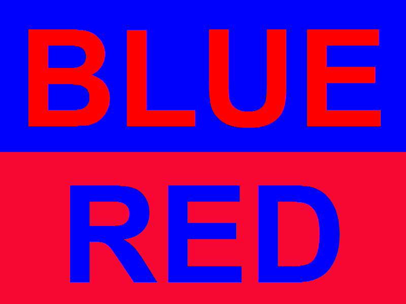 Cool Blue And Red Background