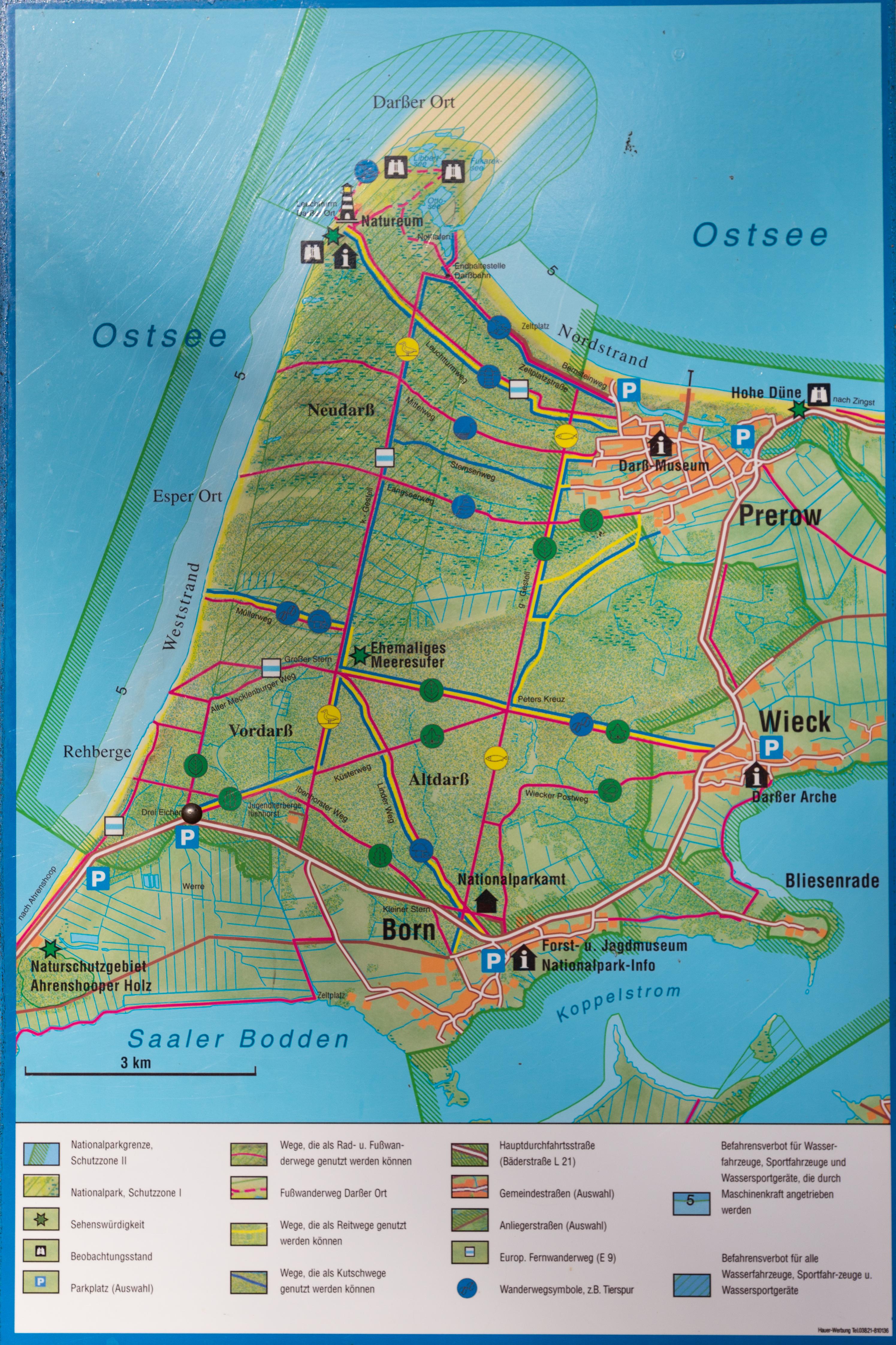 Landkarte Fischland Darss Zingst Ansichtskarten Center Onlineshop