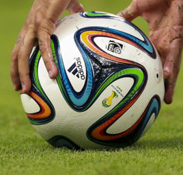 Adidas Brazuca Brazil and Colombia match at the FIFA World Cup 2014-07-04 (15) (cropped).jpg