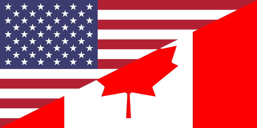 File Canada And Usa Flag Png