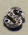 Cividale, man, fibula a S in argento dorato, da necropoli cella 02.jpg