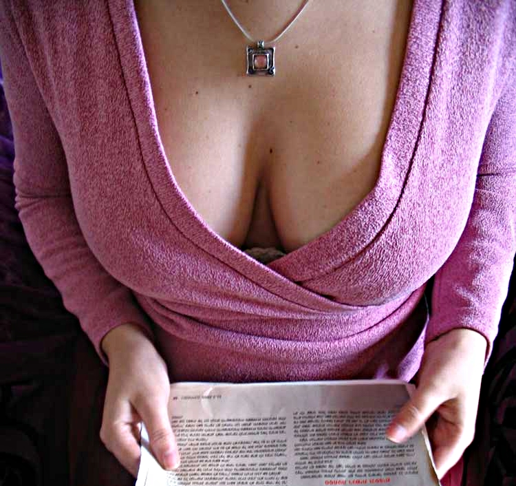 What is cleavage breasts