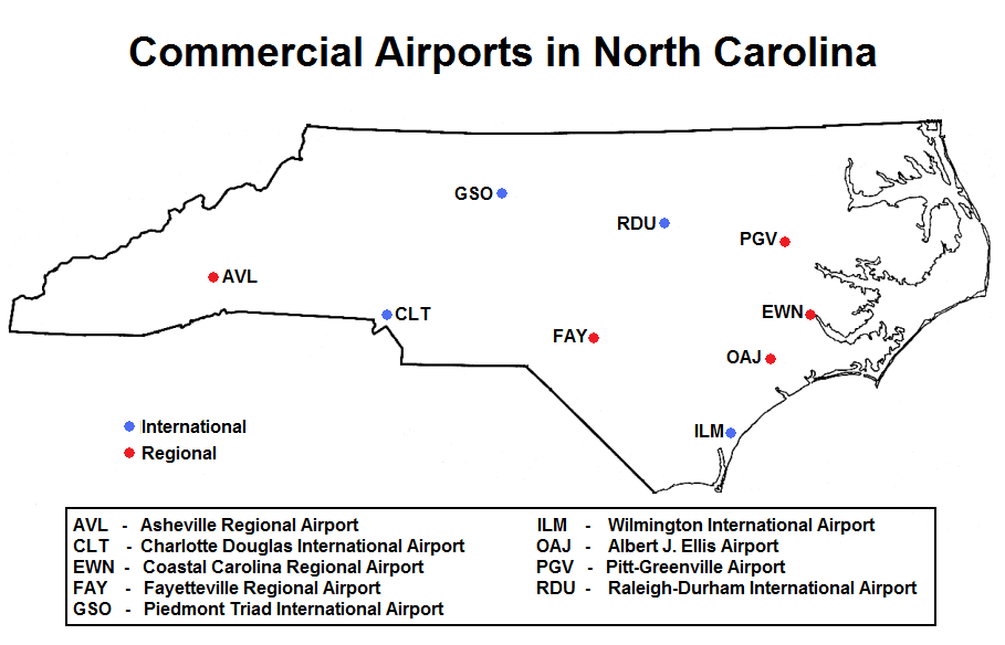 List of airports in North Carolina   Wikipedia