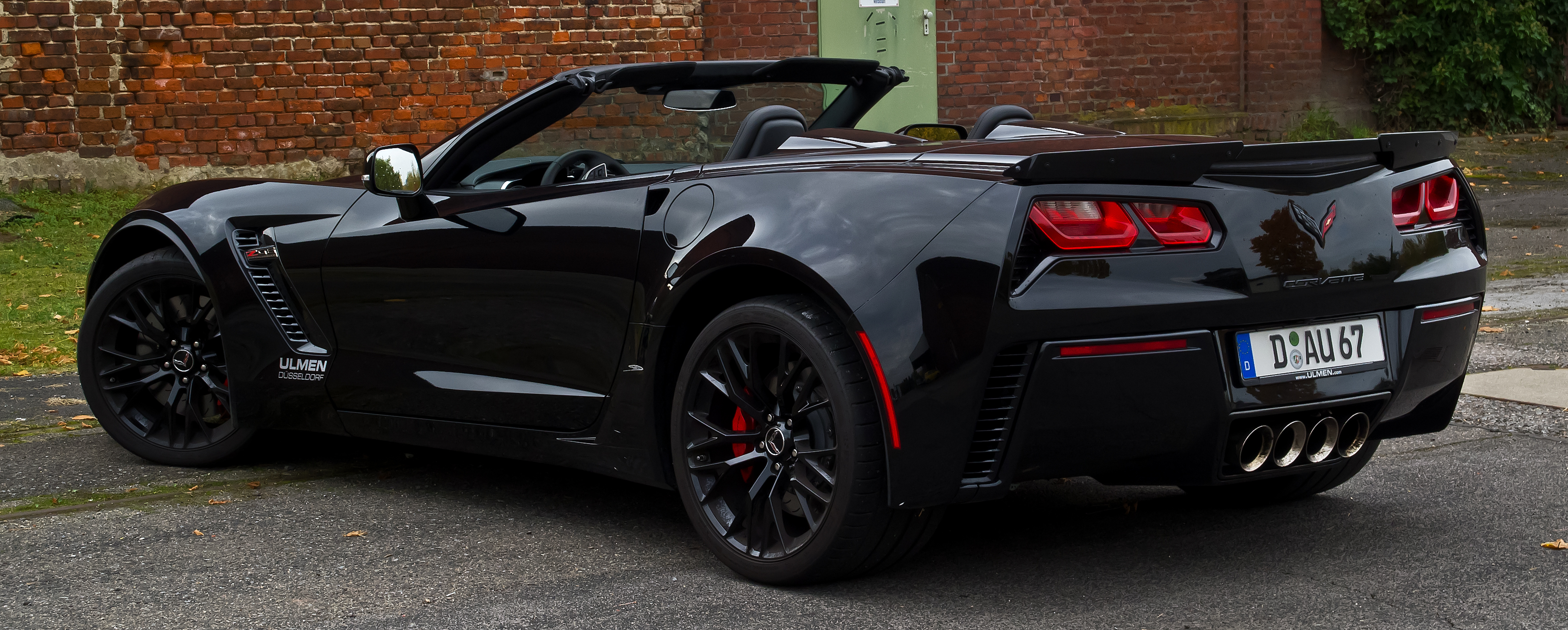 file corvette z06 cabriolet c7 heckansicht ge ffnet 28 oktober 2015 d. Black Bedroom Furniture Sets. Home Design Ideas