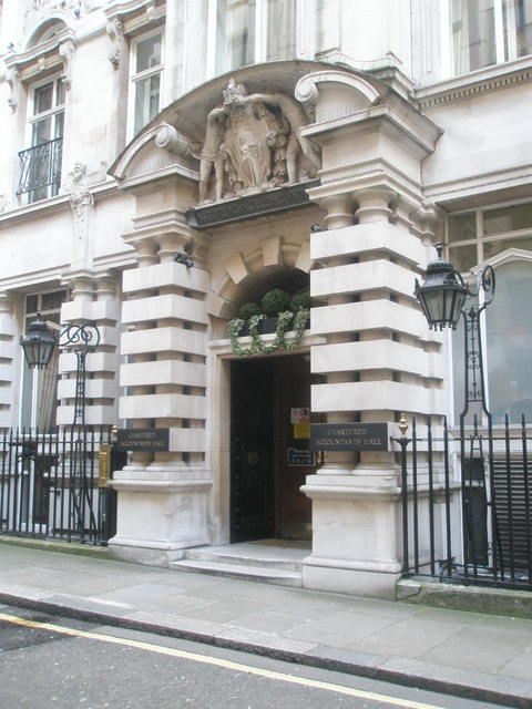 Entrance To Chartered Accountants Hall In Moorgate Place Geograph