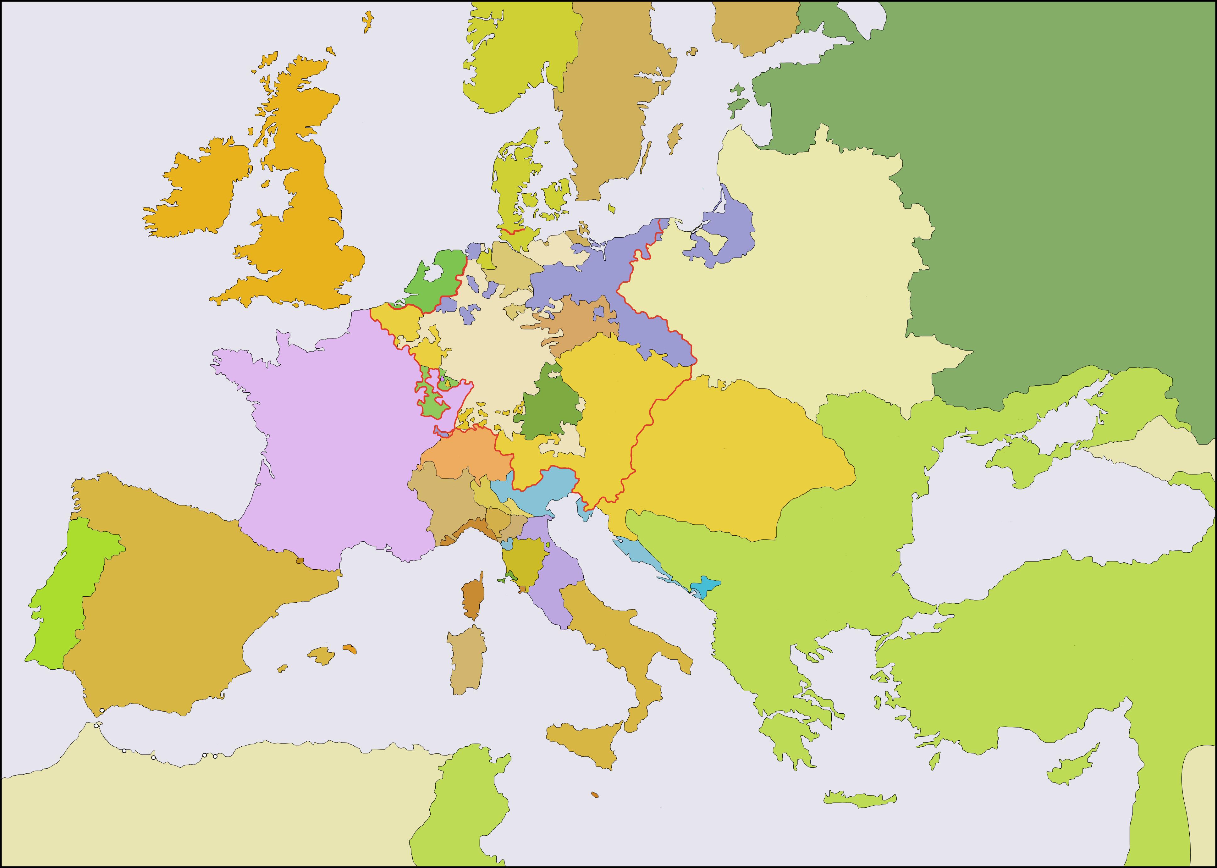 Mapa de Europa, más de 250 imágenes de calidad para imprimir ...
