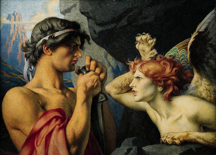 François-Émile Ehrmann, Oedipe et le Sphinx.jpg