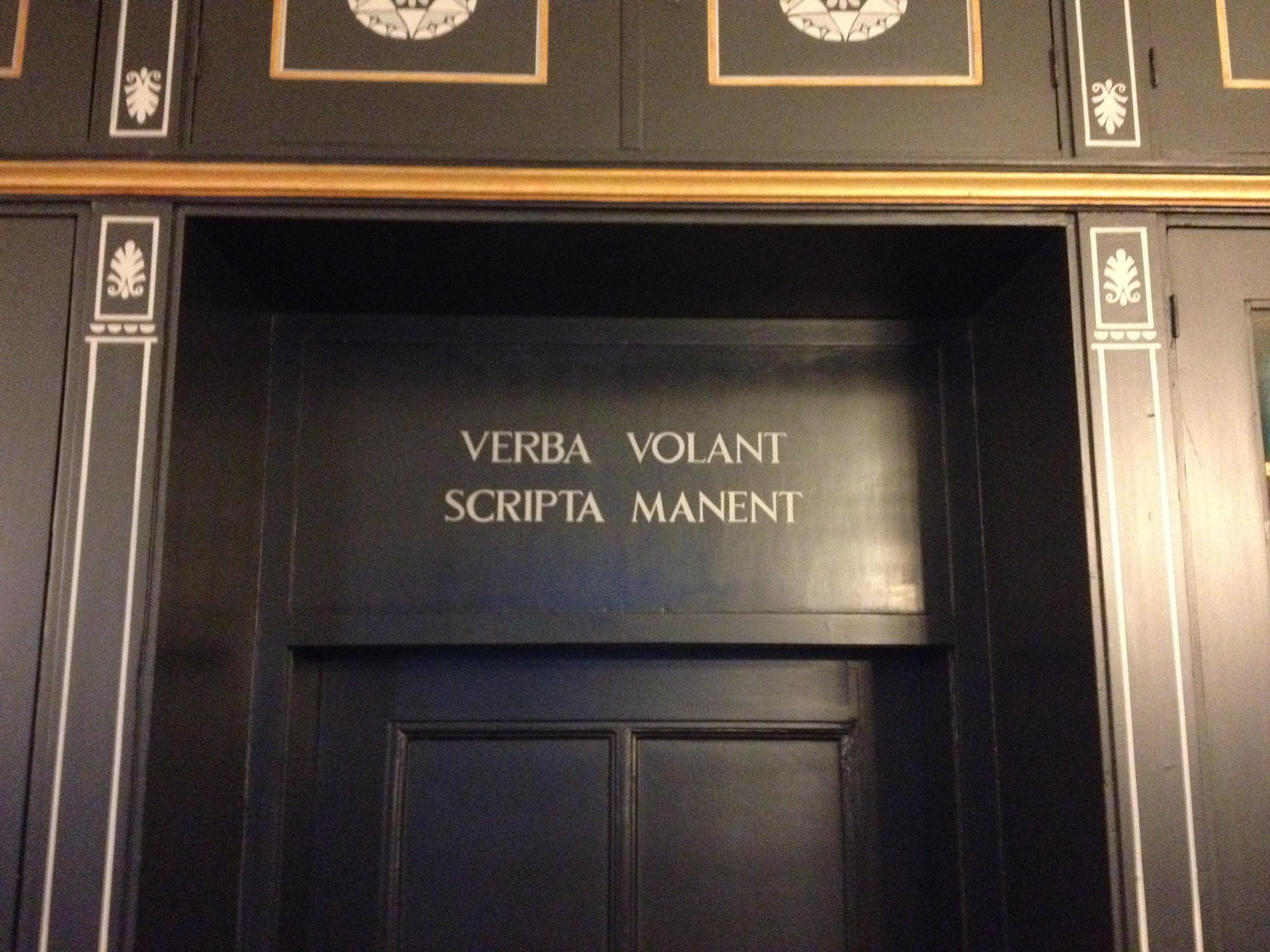 Verba Volant Scripta Manent Wikipedia