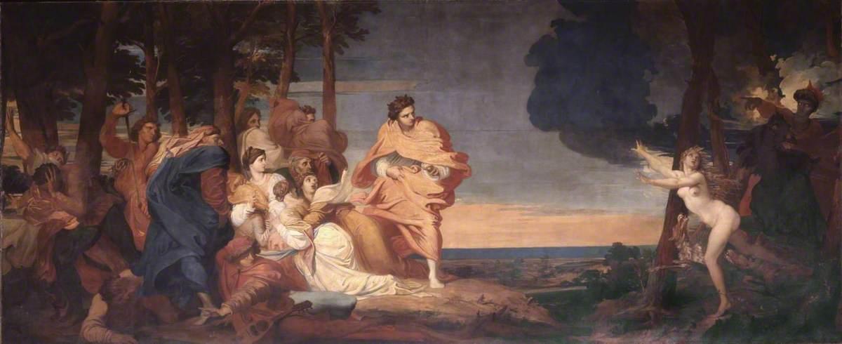 Джордж Фредерик Уоттс (1817-1904) - Рассказ из Боккаччо - N01913 - Национальный Gallery.jpg