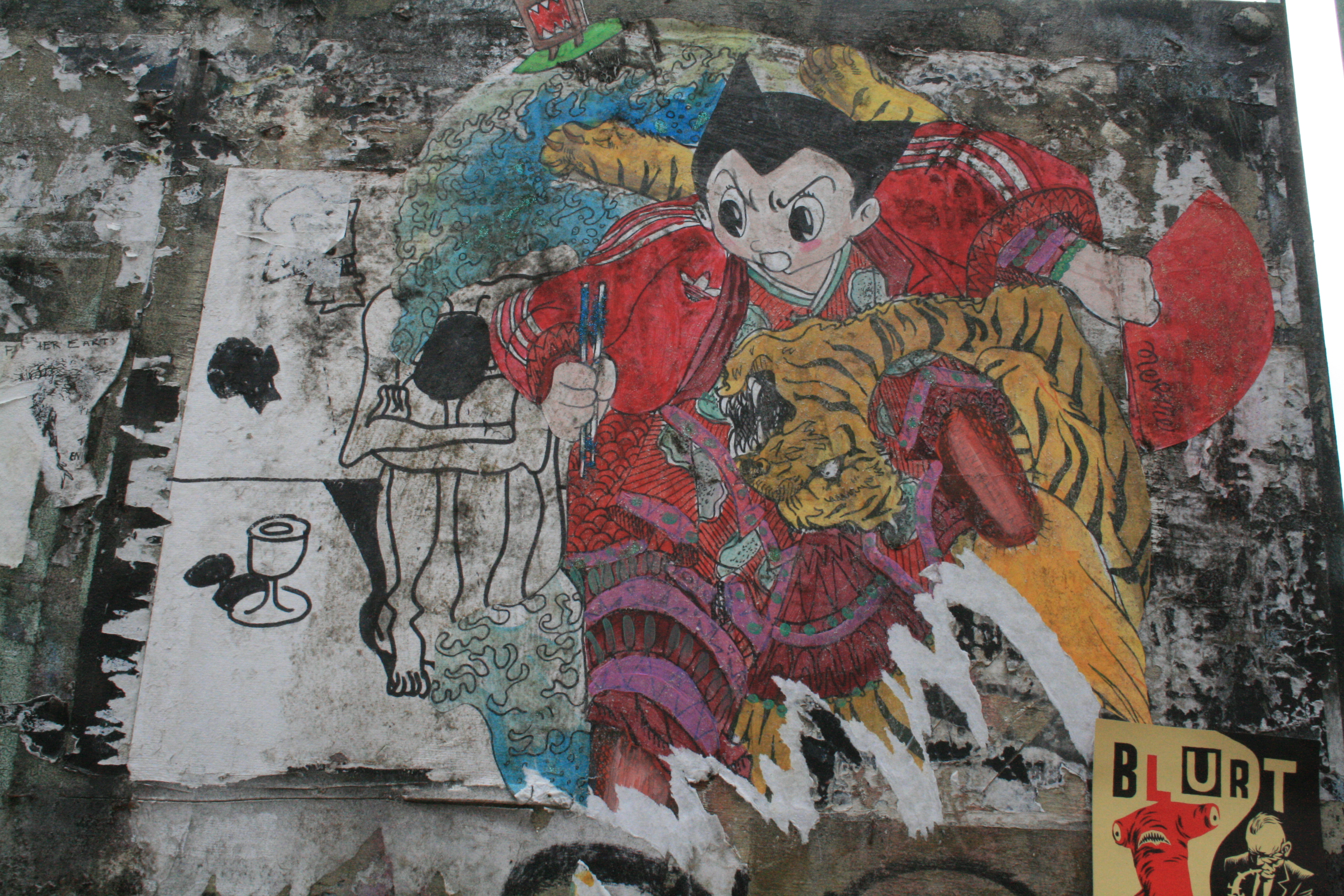 Graffiti in Shoreditch, London - Pang, Astro Boy