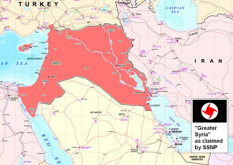 خريطة الحزب القومي الاجتماعي السوري