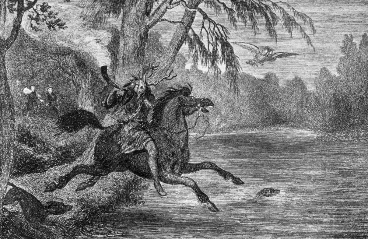 Herne The Hunter illustrated by George Cruikshank, 1843