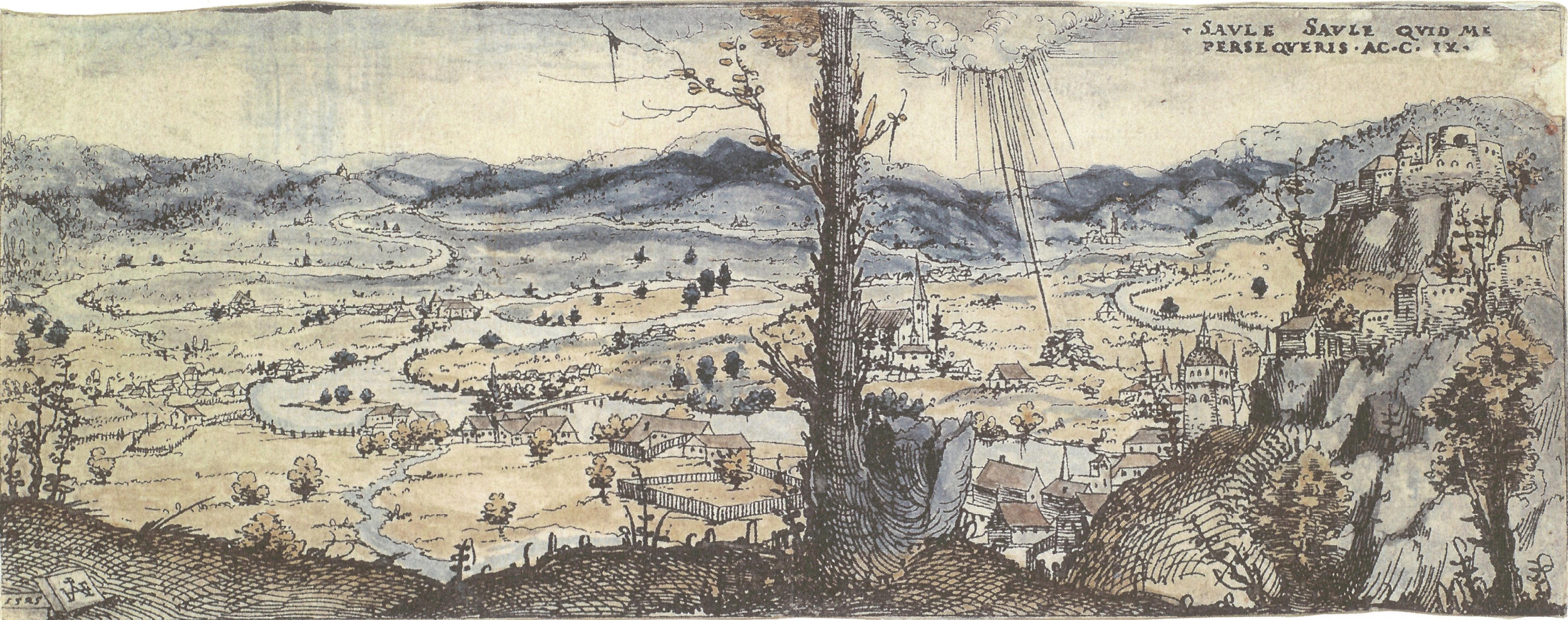 File:Hirschvogel, Augustin — Weite, von einem Fluss durchzogene Landschaft  — nach 1545
