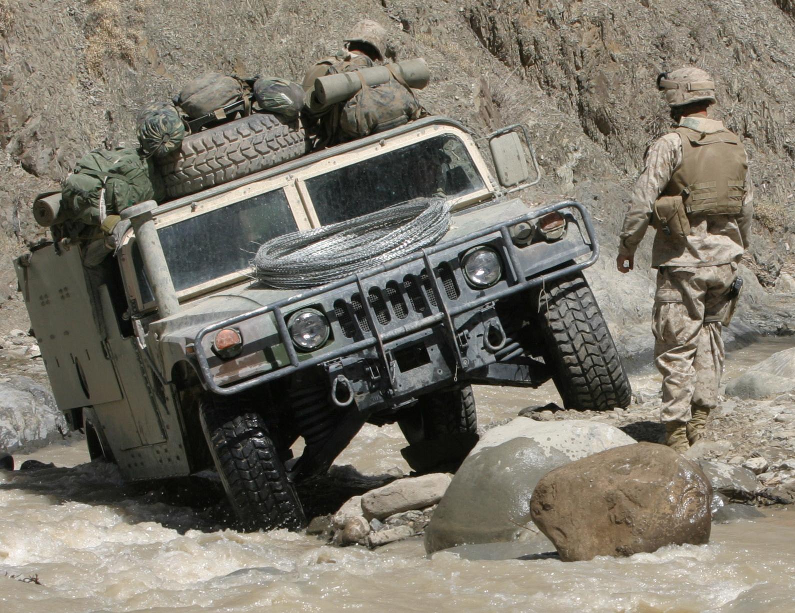 Depiction of Humvee