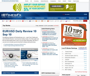 A screengrab from IBTimes.com/forex, the Forex...