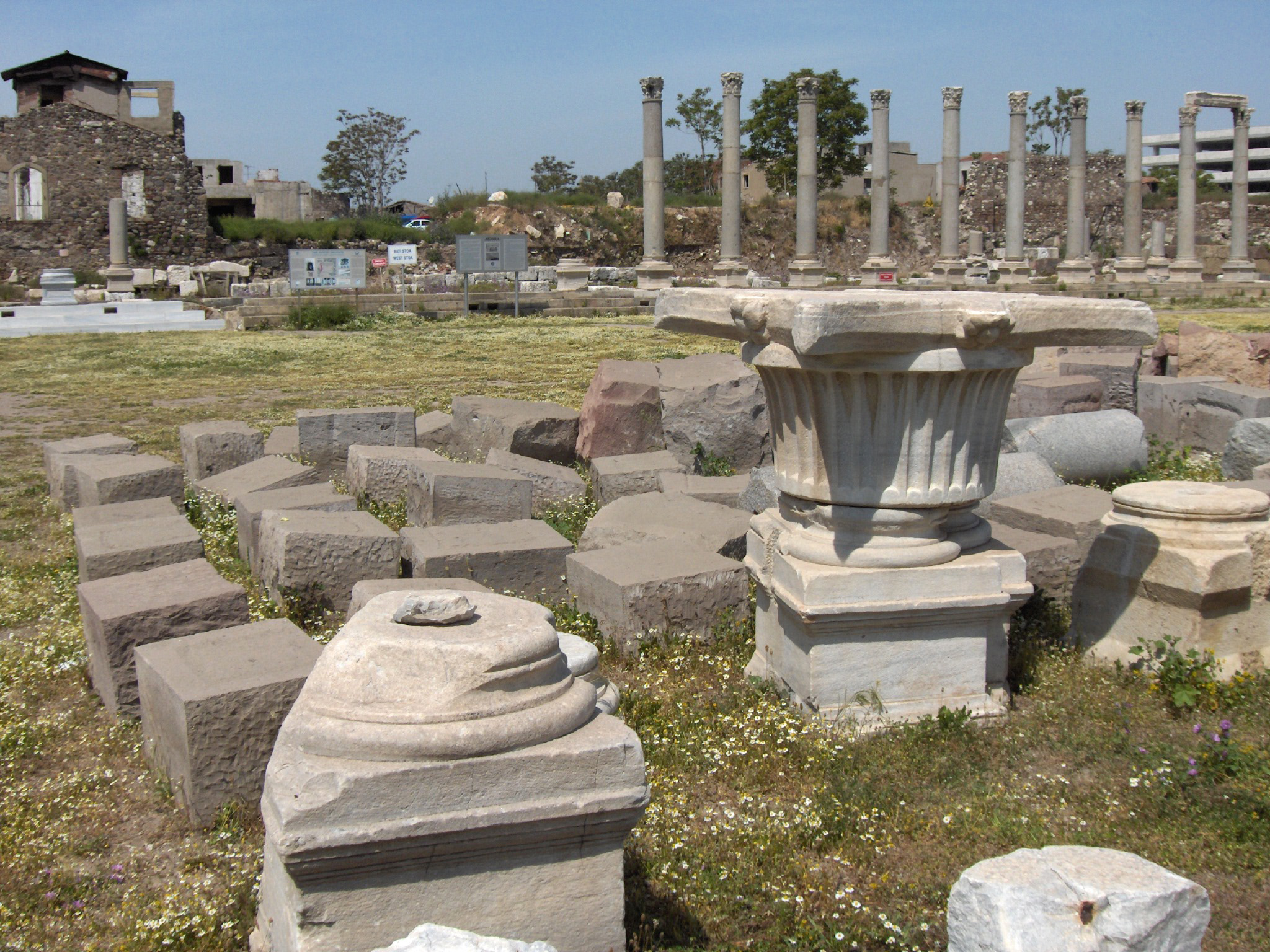 The Agora of Smyrna (columns of the western stoa)