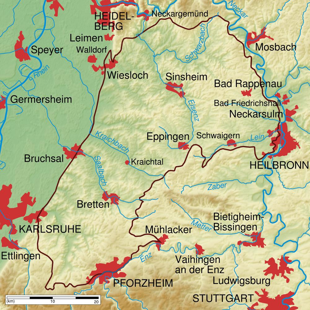 Bildergebnis für Eppingen Kraichgau karte