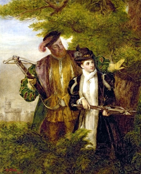 File:King Henry and Anne Boleyn Deer shooting in Windsor Forest.jpg