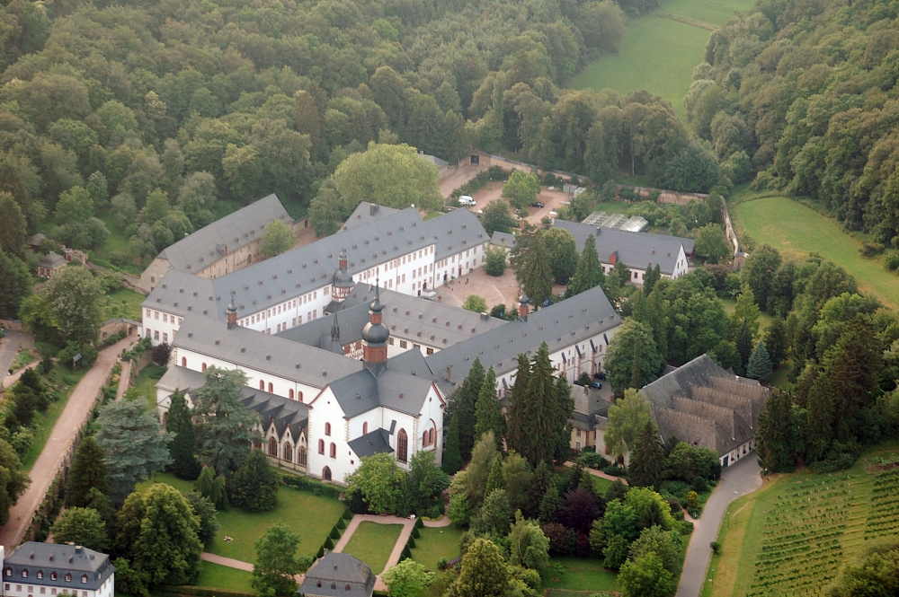 nazi germany and bibliographic information abbey Maria laach abbey is a benedictine abbey situated on the southwestern shore of  the laacher  further information: romanesque architecture  in common with  most other german benedictine houses, laach declined during the 14th century .