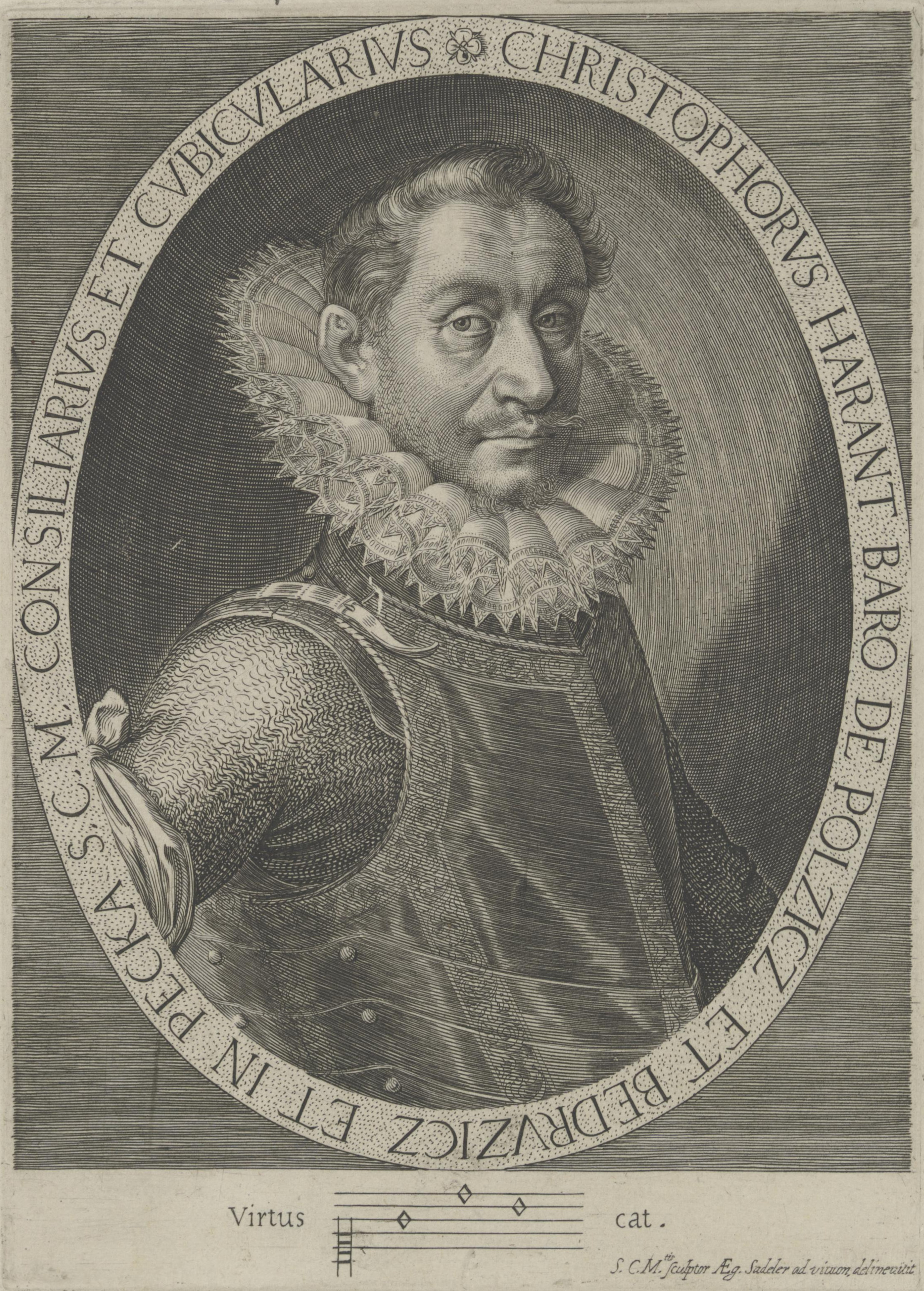 文藝復興時期波希米亞的音樂家,克利雪多夫‧哈蘭特。(維基百科)
