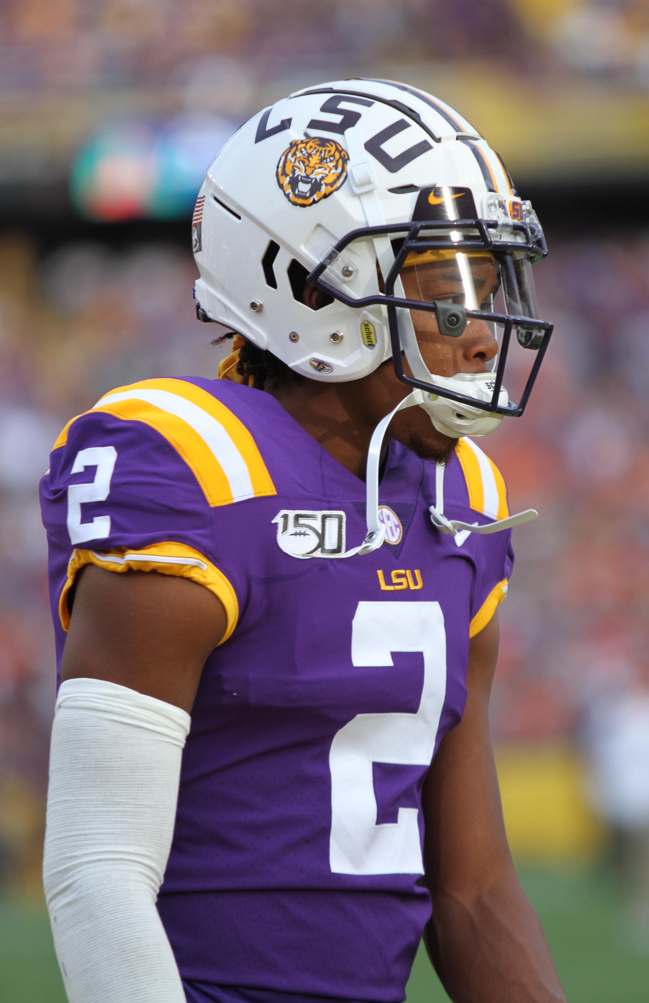 Cameron Wire LSU Tigers Football Jersey - Purple