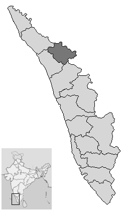 Localisation de District de Wayanad