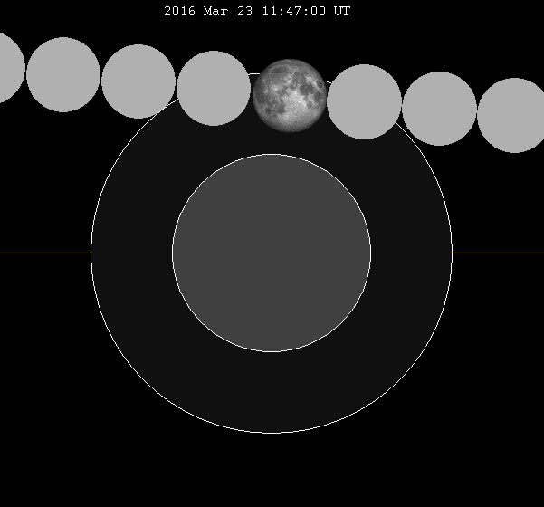 В отличие от солнечных, лунные эклипсы можно увидеть по всему полушарию, с которого видно в этот момент луну.