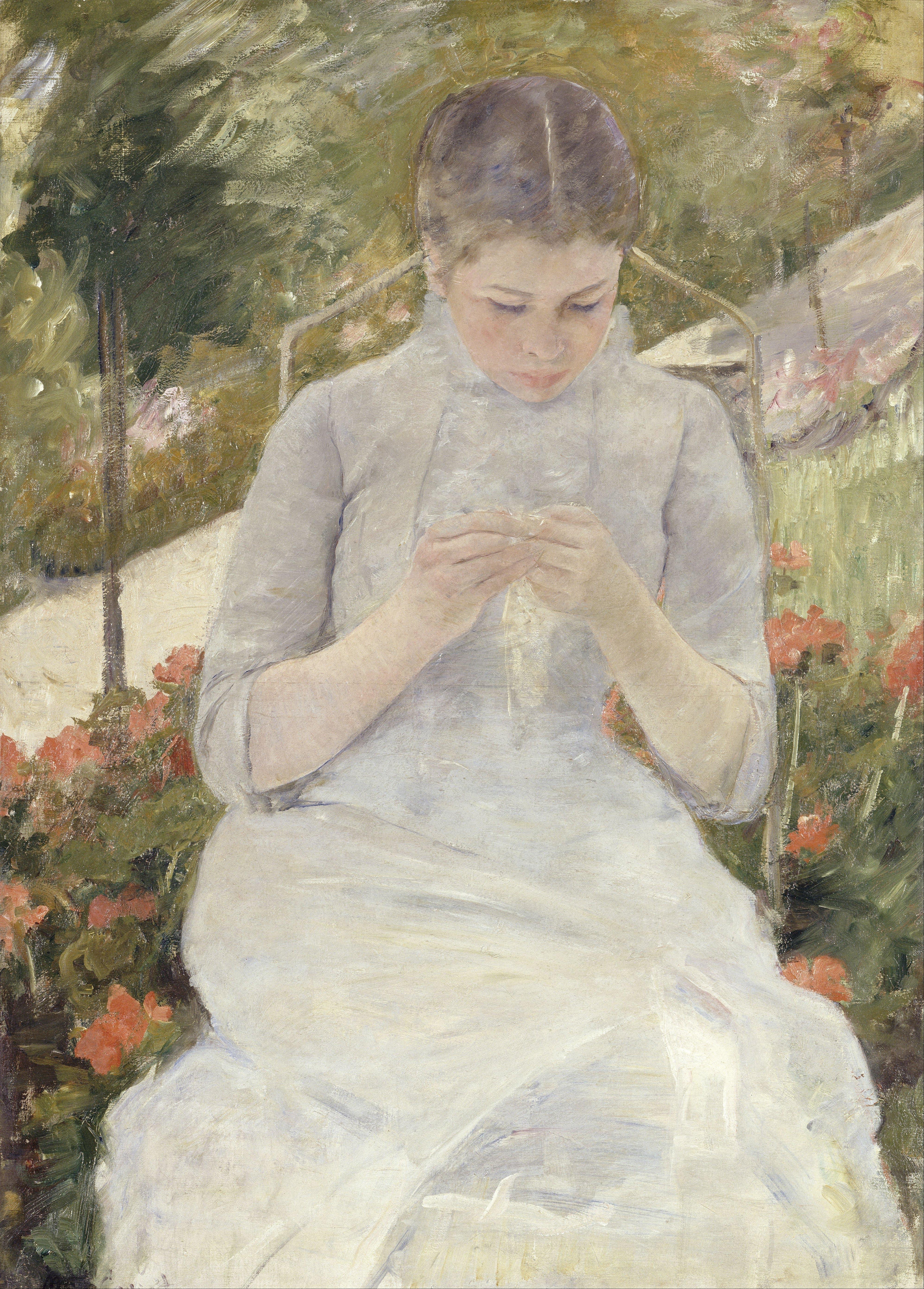 filemary cassatt girl in the garden google art projectjpg - The Girls In The Garden