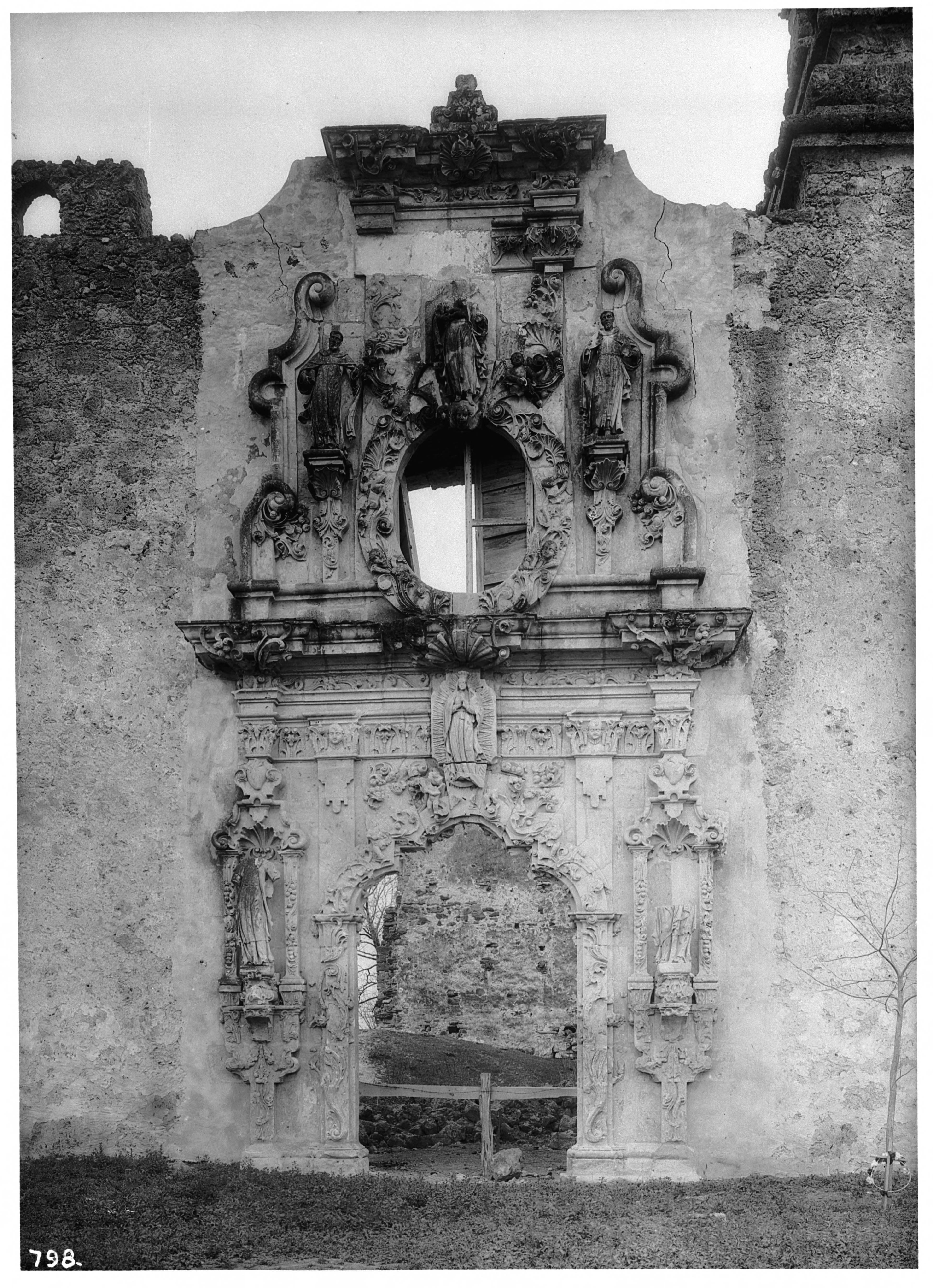 File Mission San Juan Jose Showing Decorative Entrance