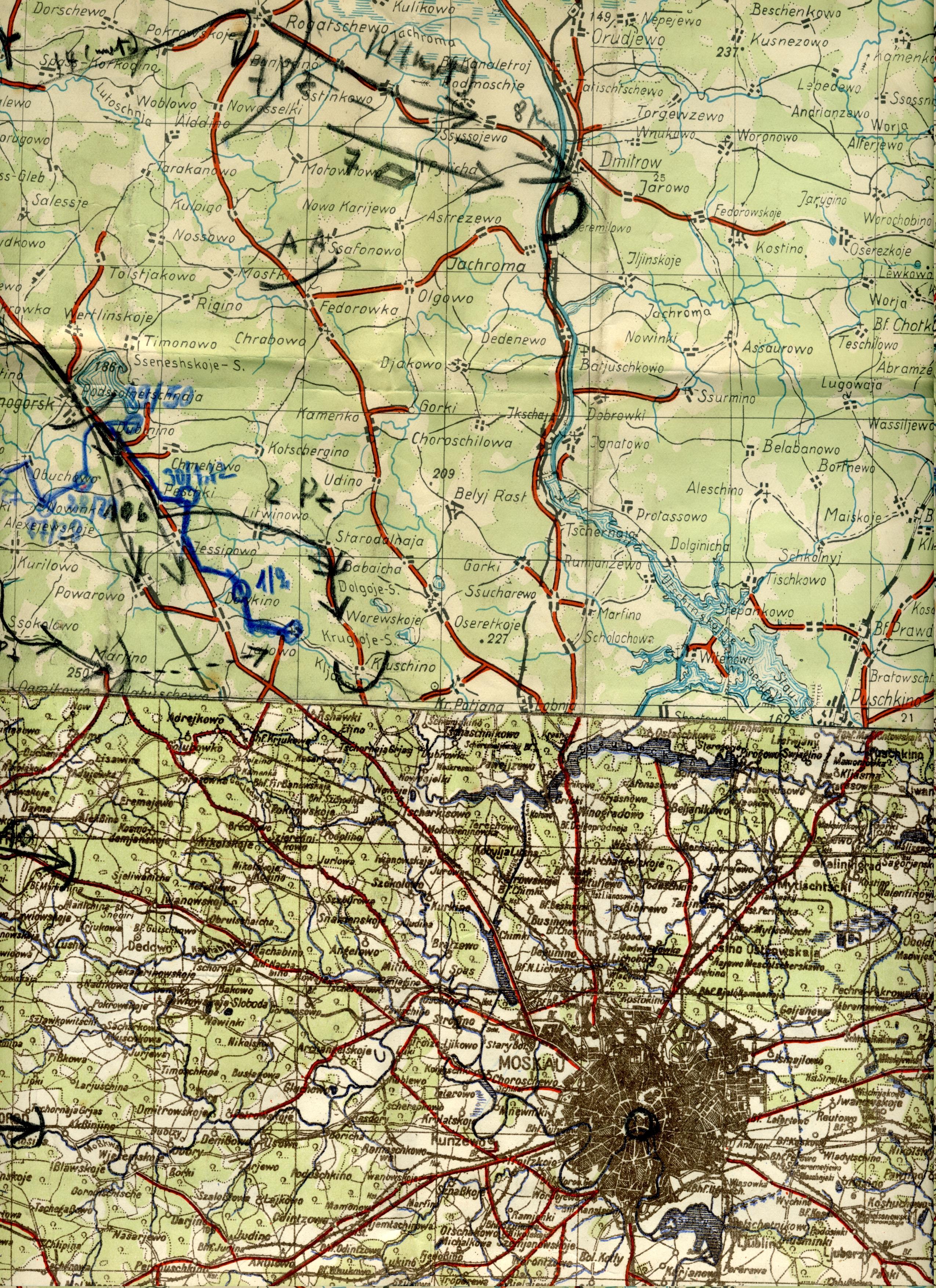 Hans von Luck and 7th Panzer reach Jachroma outside Moskau