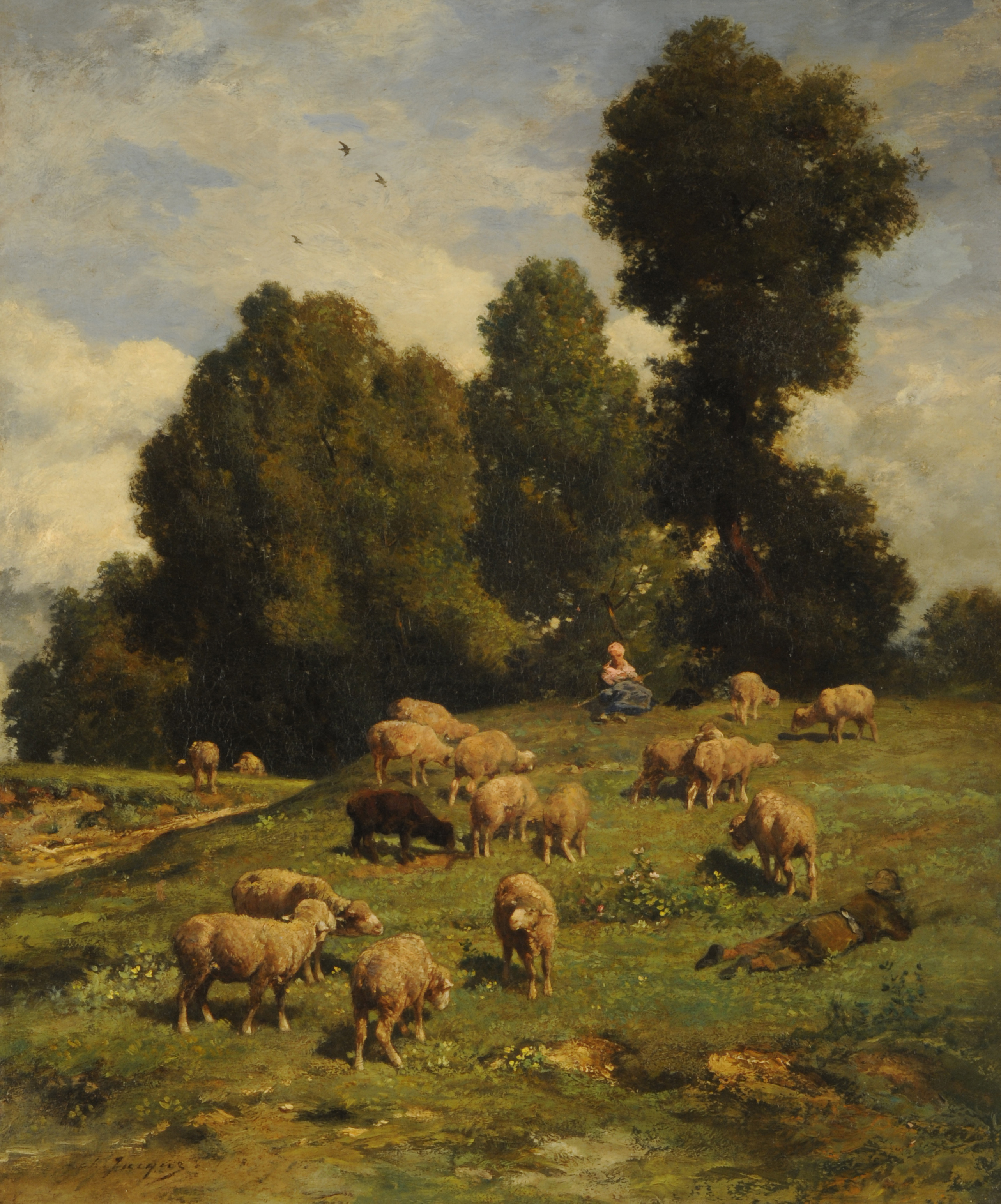 File:Moutons au pâturage - Charles Jacque.jpg - Wikimedia Commons