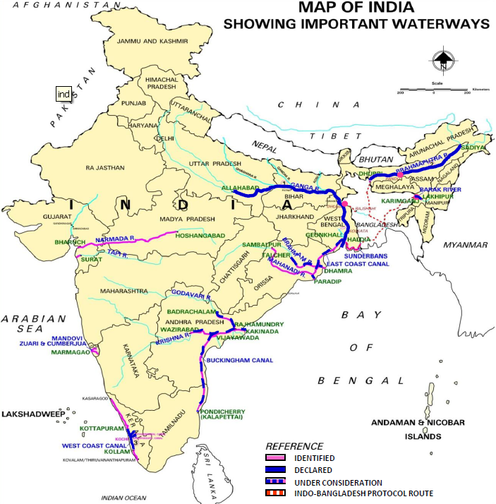 List Of National Waterways In India Wikipedia
