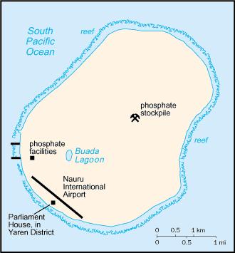 An enlargeable basic map of Nauru