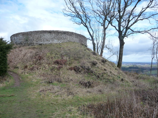 Old motte on Craig Ruperra (geograph 2833157)