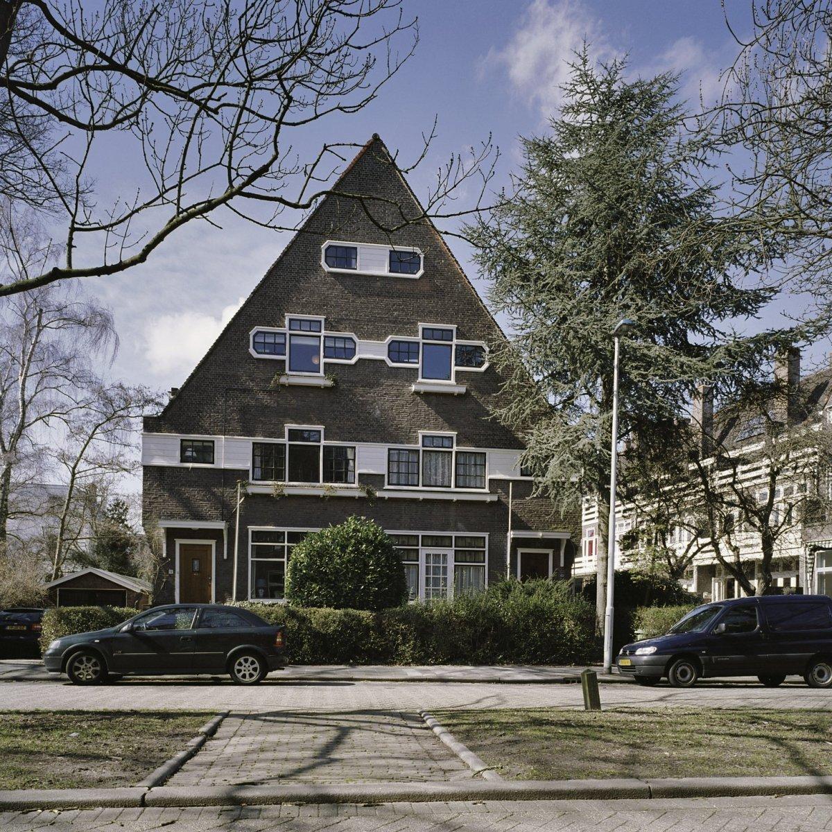 File overzicht van de voorgevel van het dubbel woonhuis for Woonhuis rotterdam