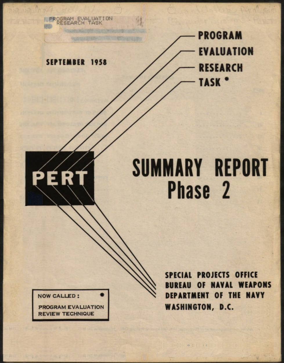 PERT Summary Report Phase 2 1958