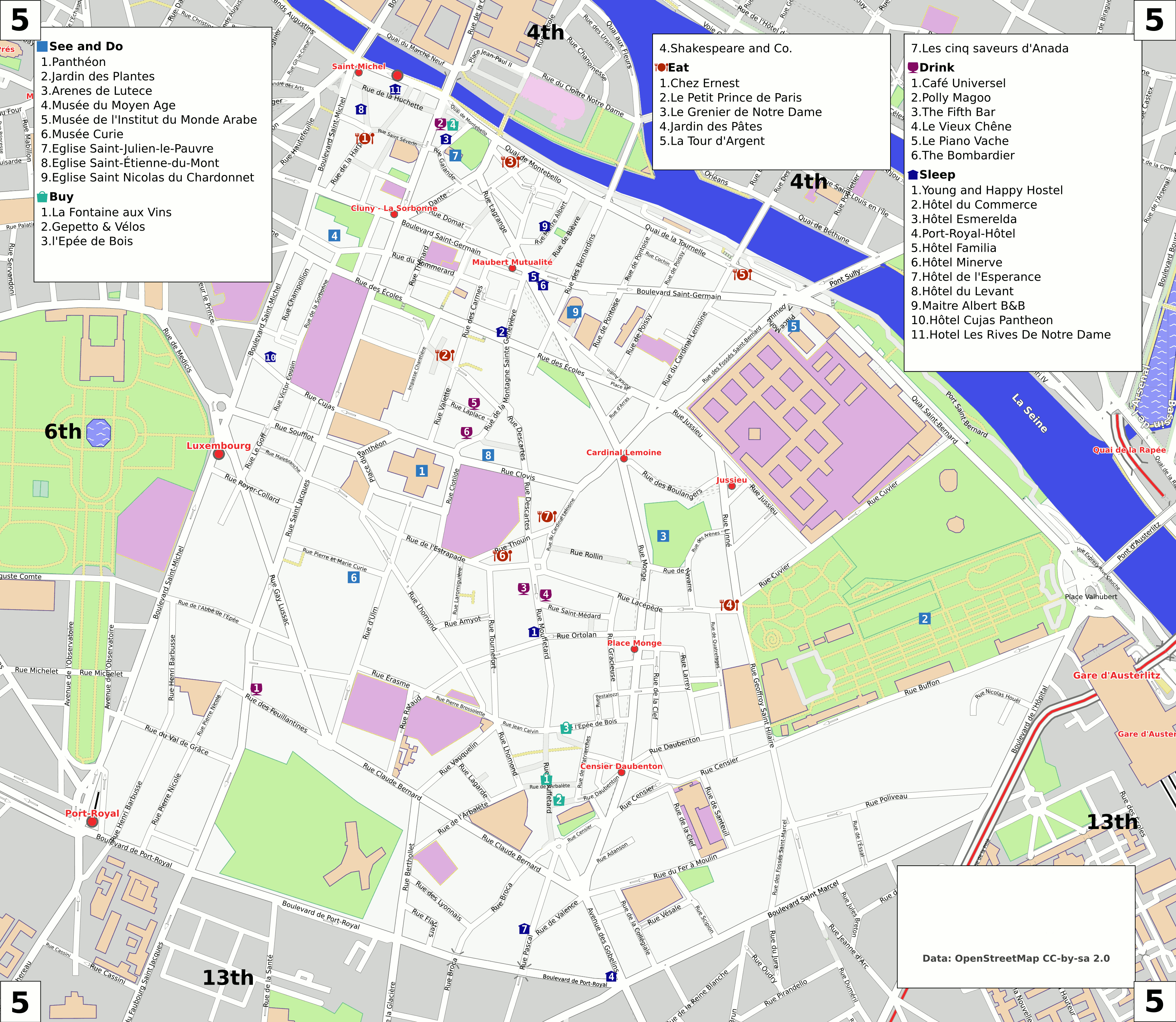 Map Of Paris France 6th Arrondissement.Paris 5th Arrondissement Travel Guide At Wikivoyage
