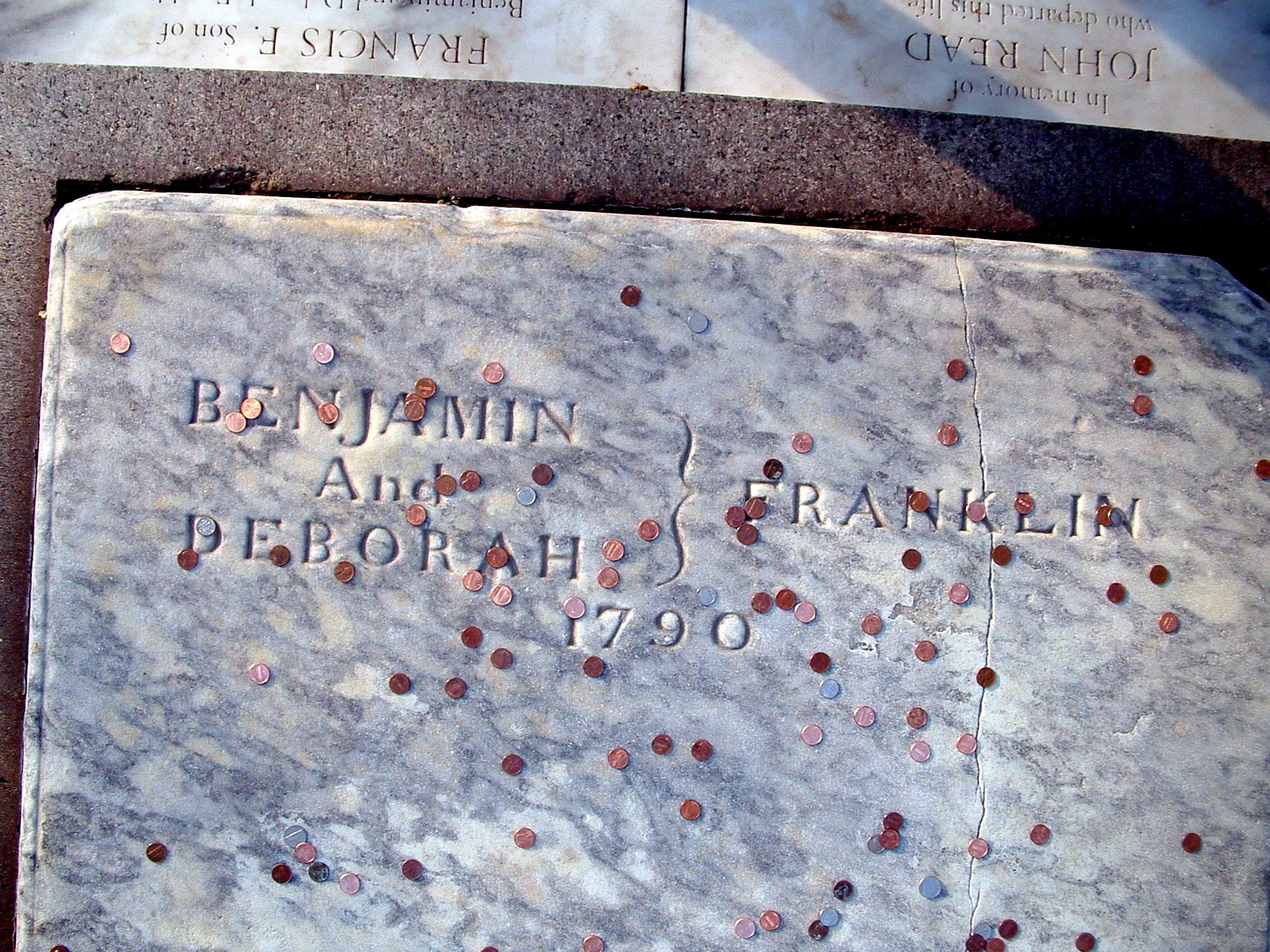 Afbeeldingsresultaat voor Benjamin Franklin grave philadelphia