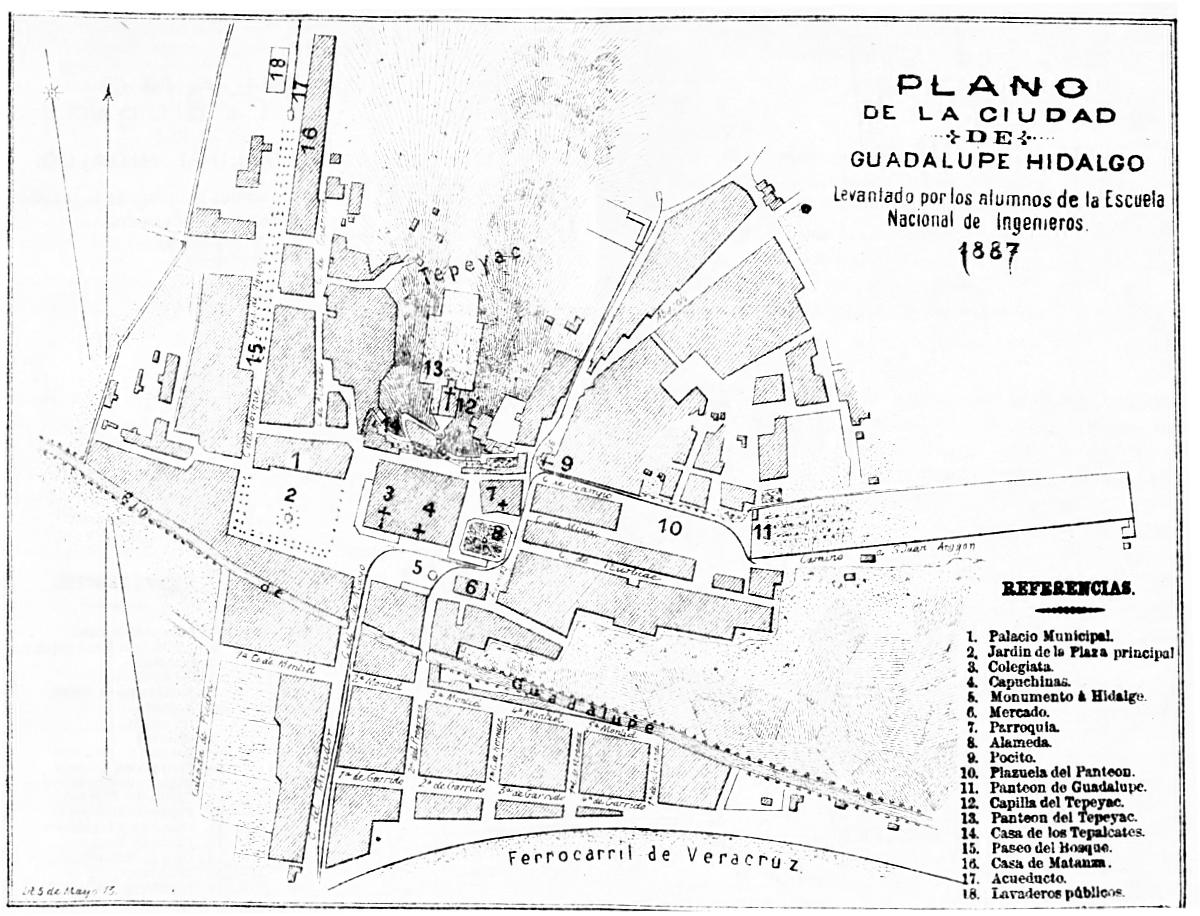Icono Mapa Mexico Png: File:Plano De La Ciudad De Guadalupe Hidalgo.png