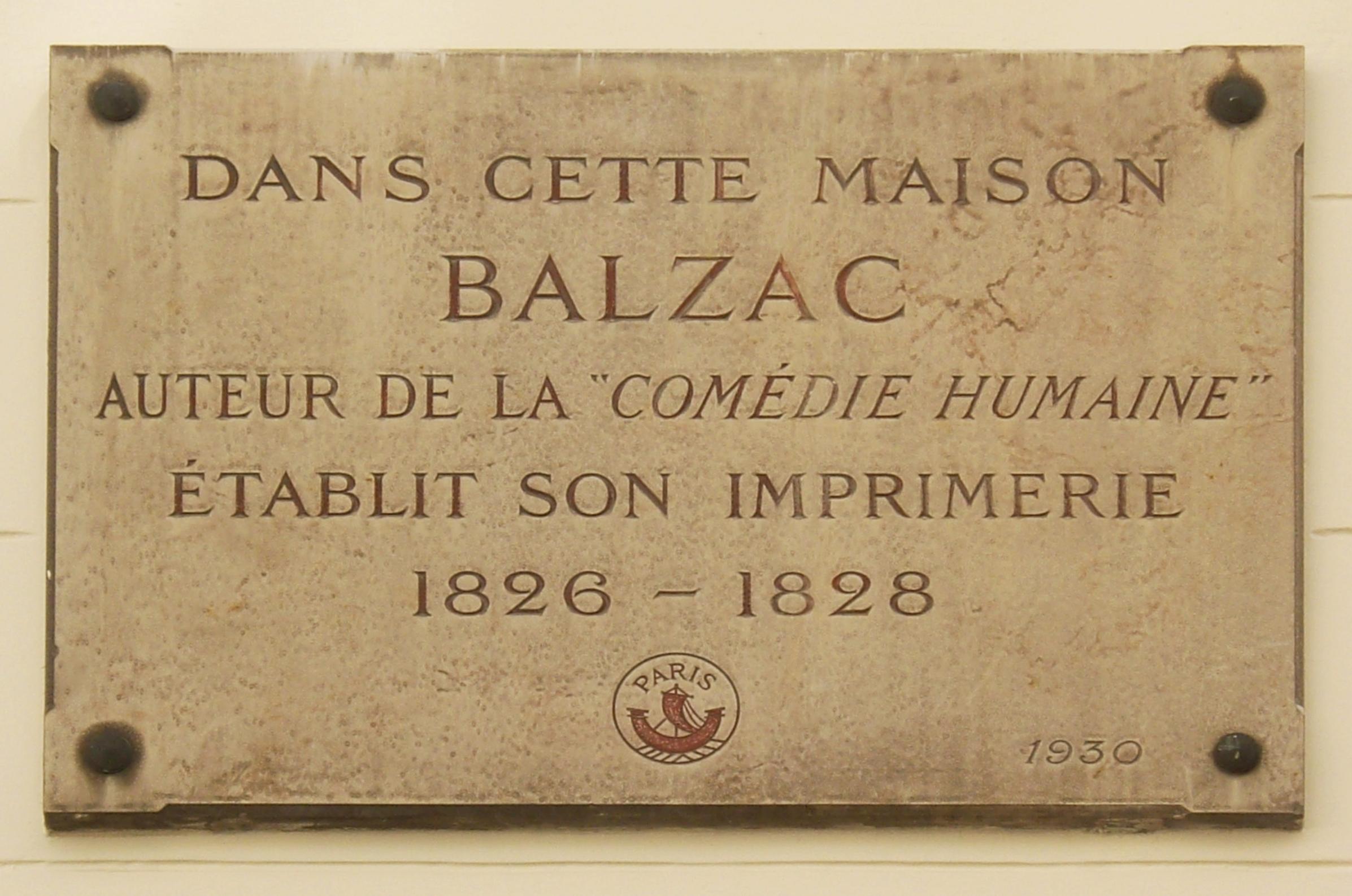Chronologie De La Vie DHonor Balzac