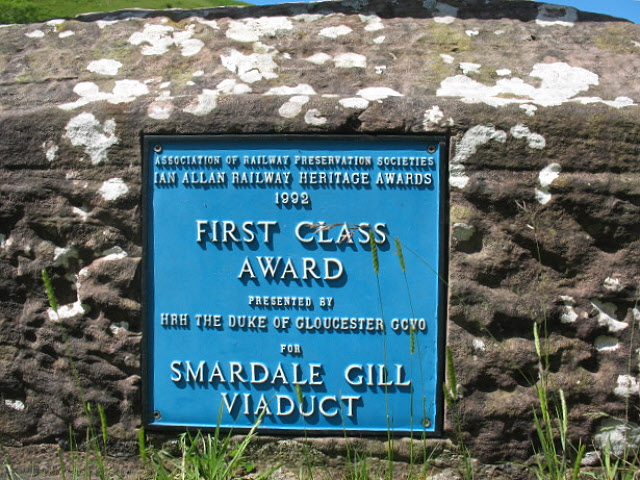 Plaque on Smardale Gill viaduct - geograph.org.uk - 1406740