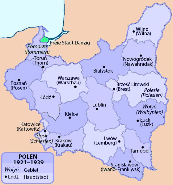 File Polen Wojewodztwa 1921 1939 Png Wikimedia Commons