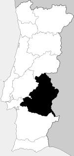 Location of Alto Alentejo in Portugal in 1936.