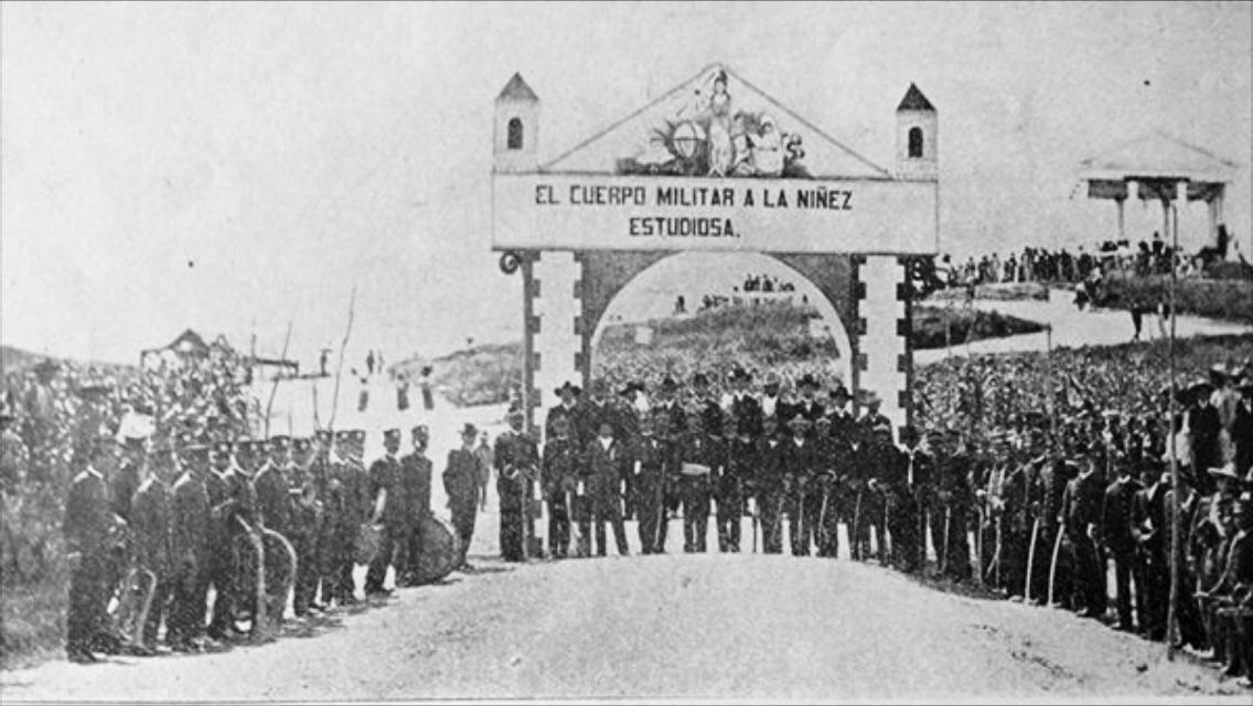 Celebración de las Fiestas de Minerva en Quiché en 1907.