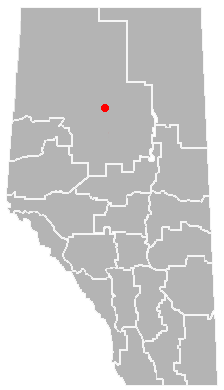 Red Earth Creek, Alberta Location