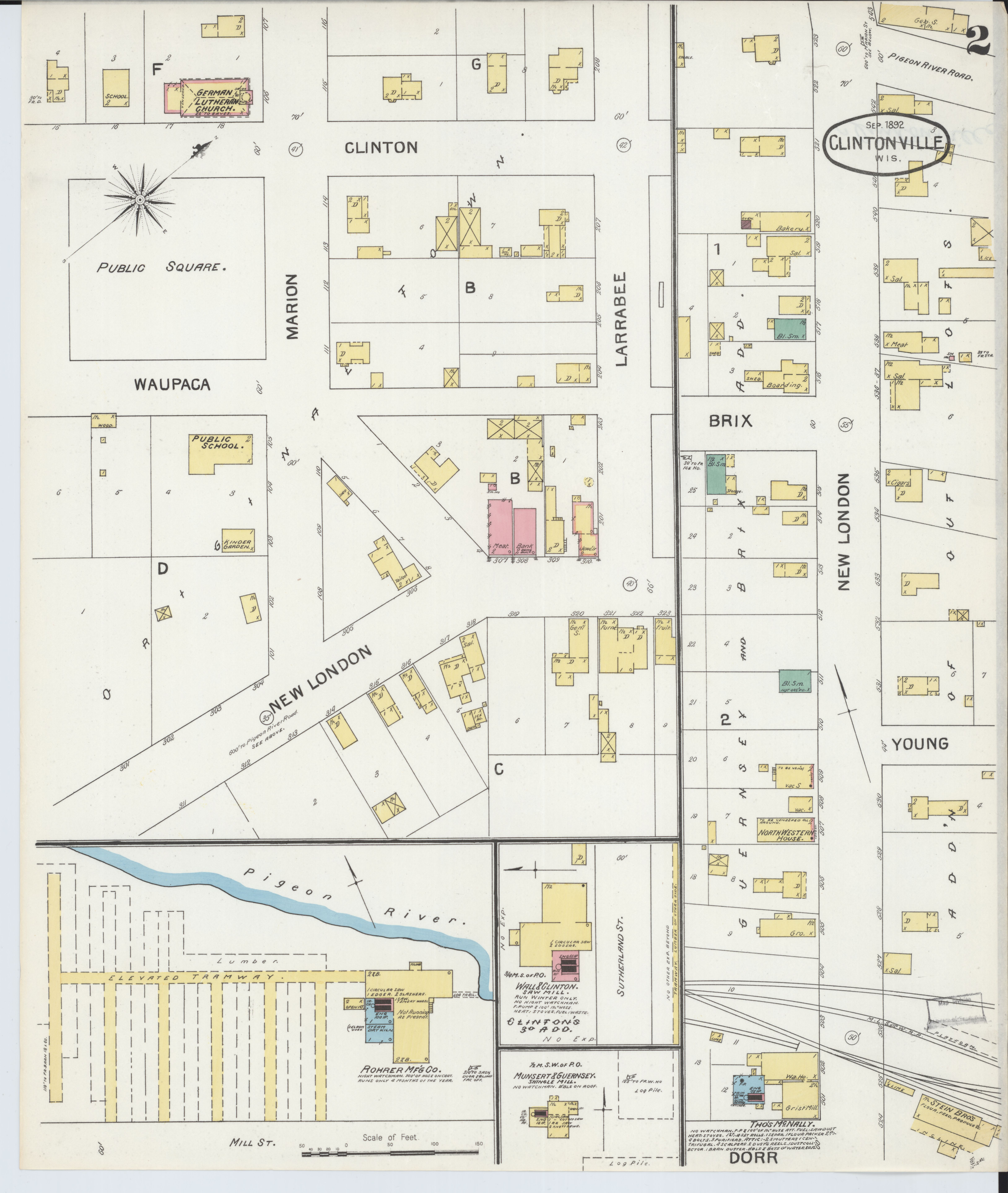Marion Wisconsin Map.File Sanborn Fire Insurance Map From Clintonville Waupaca County